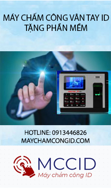 may cham cong van tay id banner home side